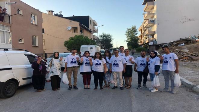 AK Parti İzmir Yasin Börü için kurban eti dağıttı