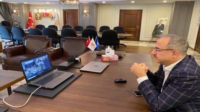 AK Parti'de İl Başkanları toplantısı telekonferans yöntemiyle yapıldı
