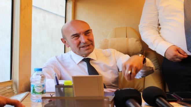Başkan Soyer'in seyyar makamı yola çıktı: İlk durak Buca!