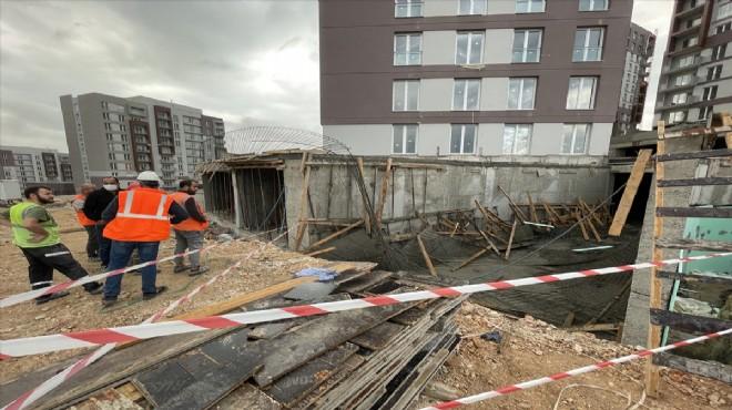 Beton kalıp çöktü: 1 işçi yaralandı!