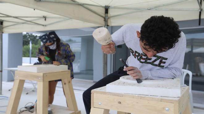 Buca'nın heykel çalıştayına sanat dolu gala