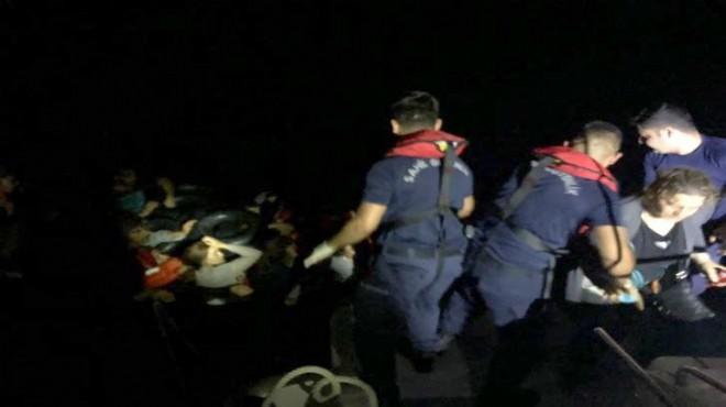 Çeşme'de 'radarlı' yasa dışı geçiş operasyonu