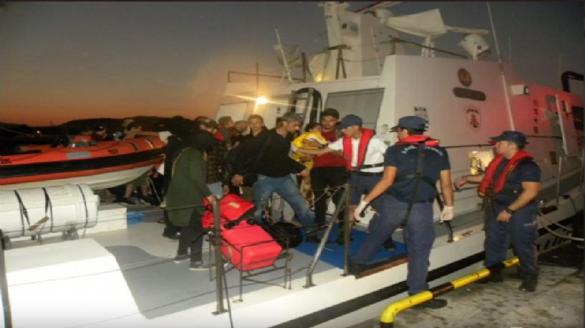 Dikili'de yasa dışı geçiş operasyonu