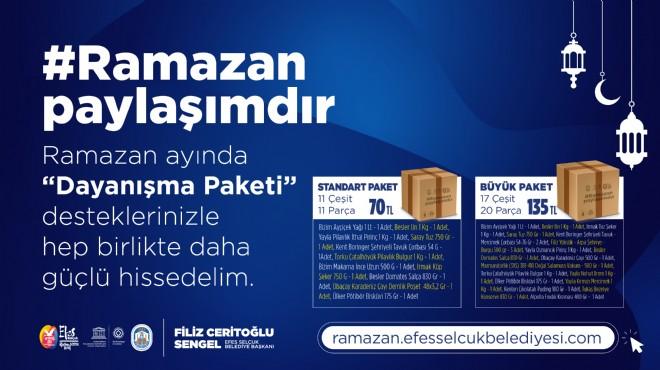 Efes Selçuk'ta Ramazan Dayanışma paketi