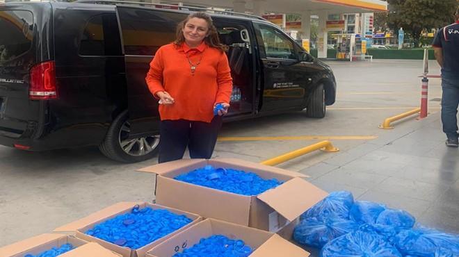 İZTO'dan TOFD'a plastik kapak toplama desteği