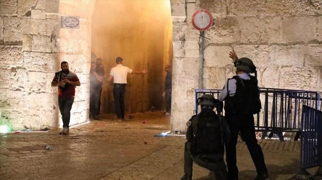 İsrail yine Mescid-i Aksa'yı hedef aldı: 90 yaralı