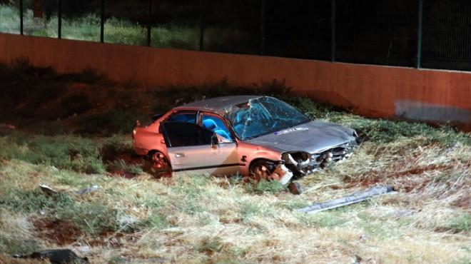 İzmir'de feci kaza! Şarampole devrildi: 1 ölü, 1 yaralı