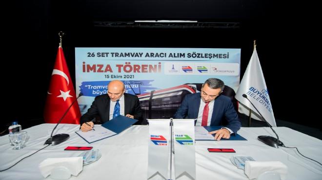 İzmir'e yeni tramvay filosu... Soyer: Demir ağlarla örmek boynumuzun borcu!