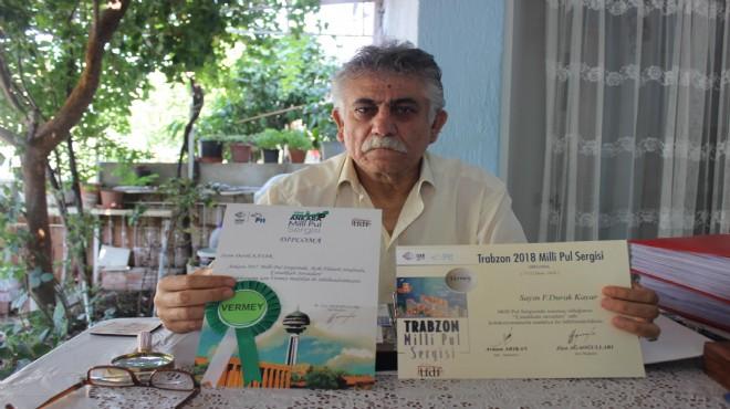İzmir'in madalyalı pul koleksiyoneri