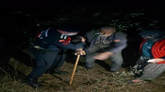 Kaybolan yaşlı adamı jandarma buldu