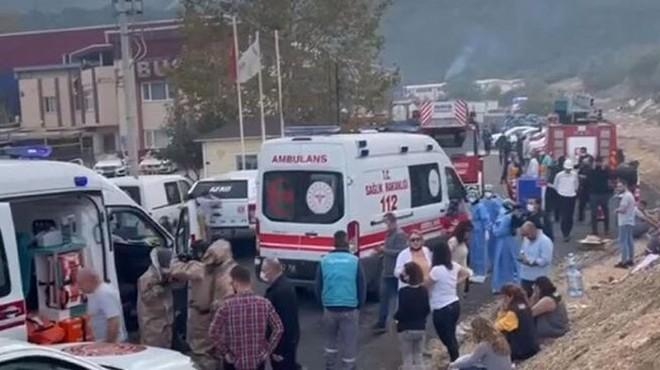 Kimya fabrikasında patlama: 1 ölü, 6 yaralı