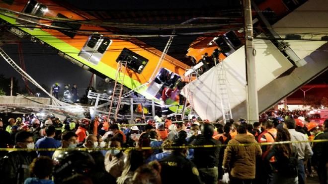 Meksika'da metro faciası: 15 ölü, 70 yaralı