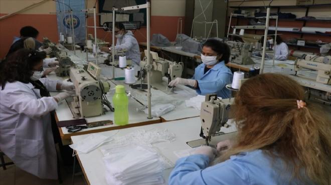 Mesleki eğitim merkezinde günde 5 bin maske
