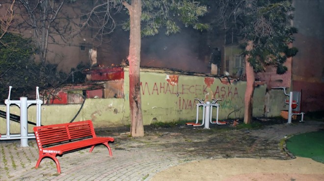 Yangın kabusu: Tek katlı ev küle döndü!